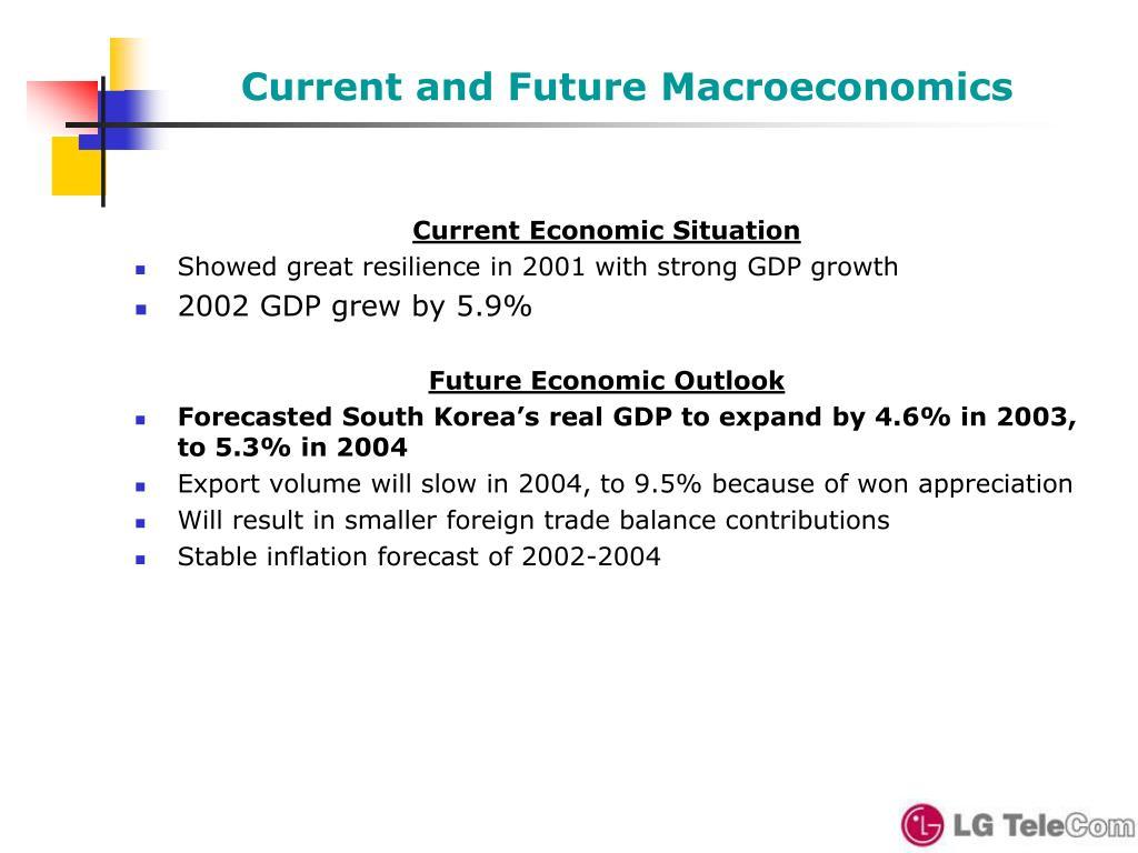 Current and Future Macroeconomics