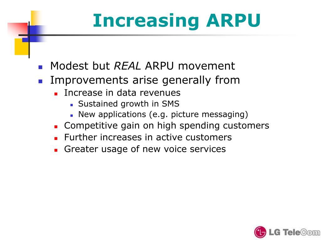 Increasing ARPU