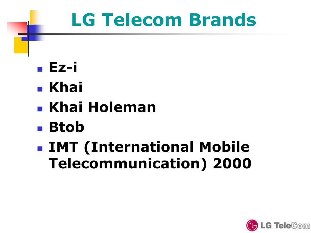 LG Telecom Brands