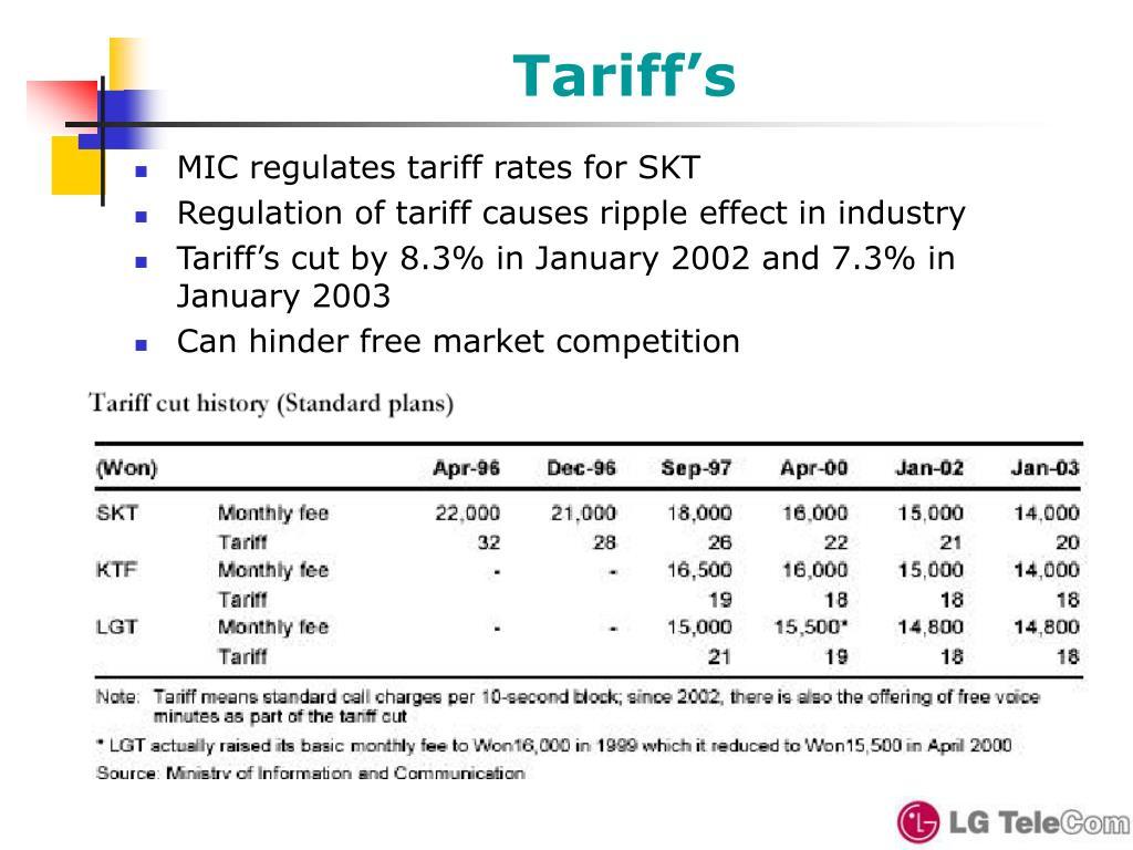 Tariff's