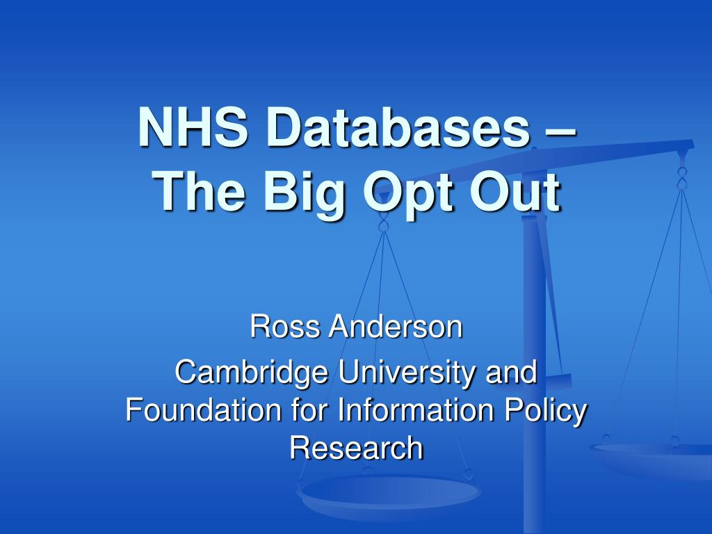 NHS Databases –