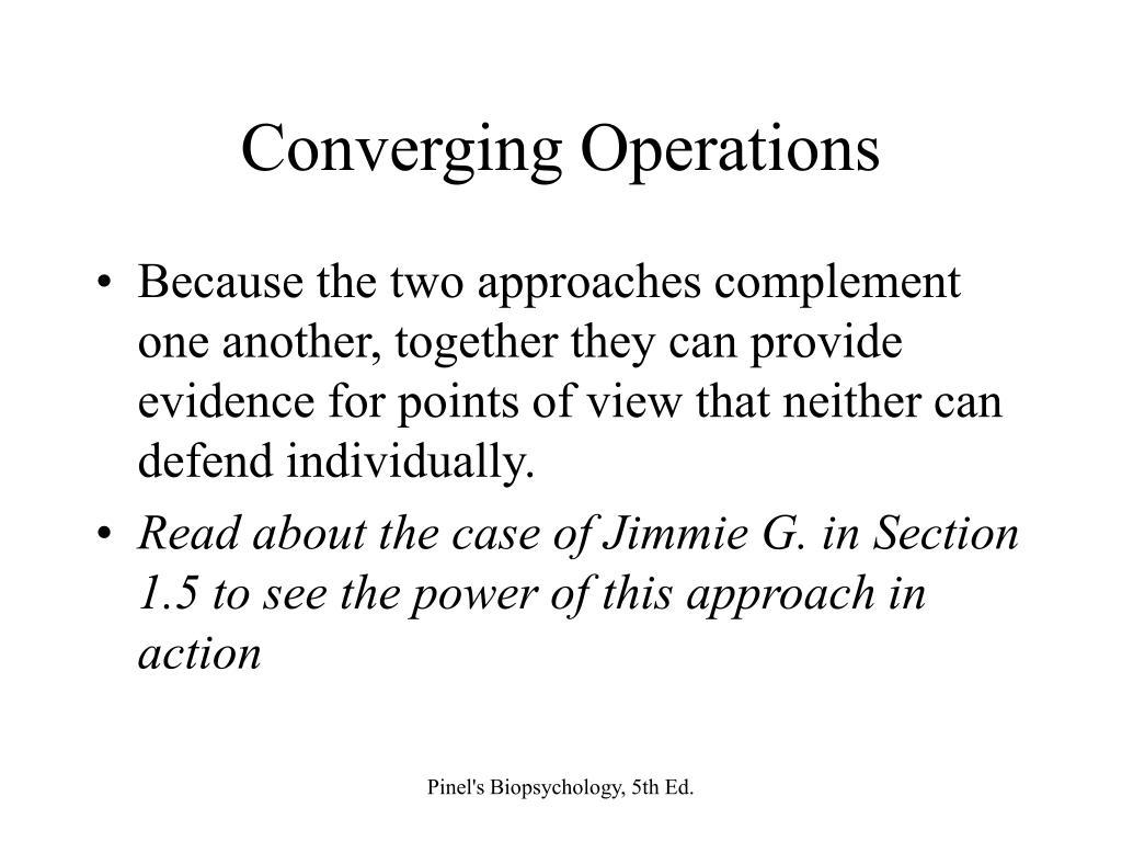 Converging Operations