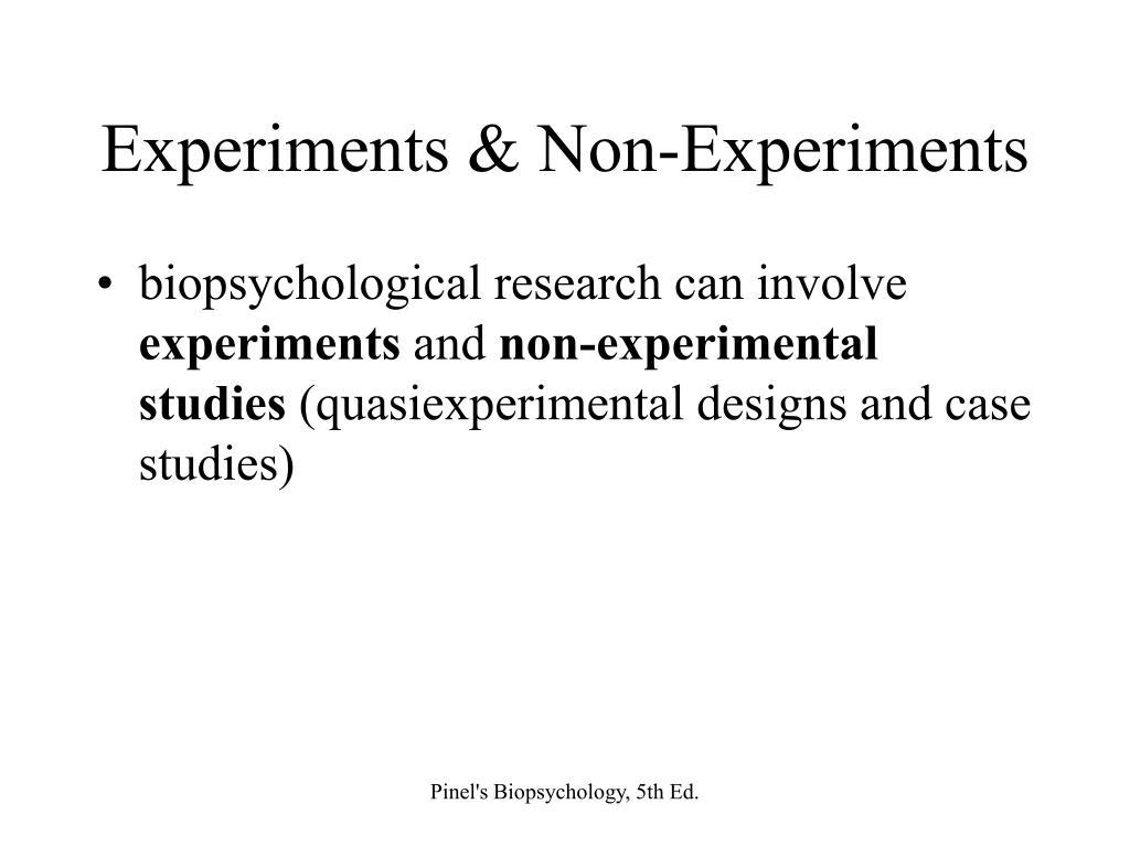 Experiments & Non-Experiments