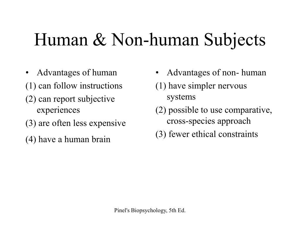 Advantages of human