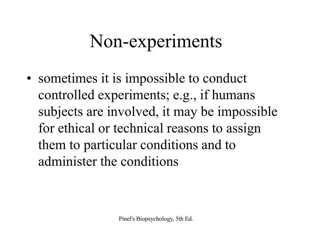 Non-experiments