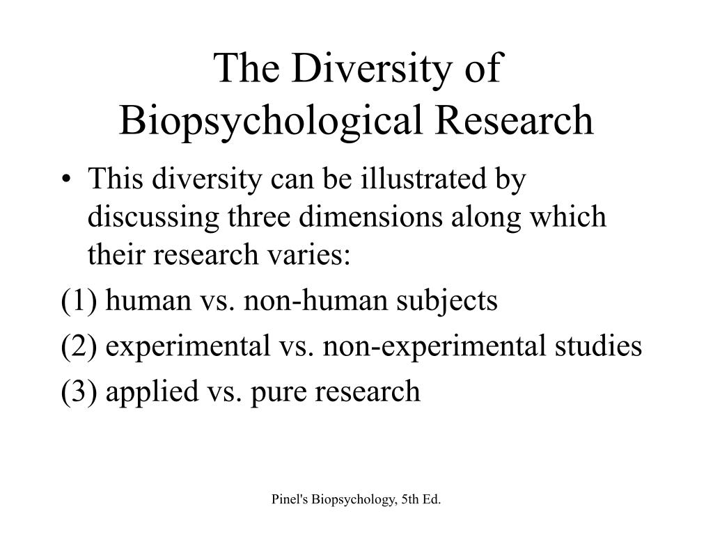 The Diversity of Biopsychological Research