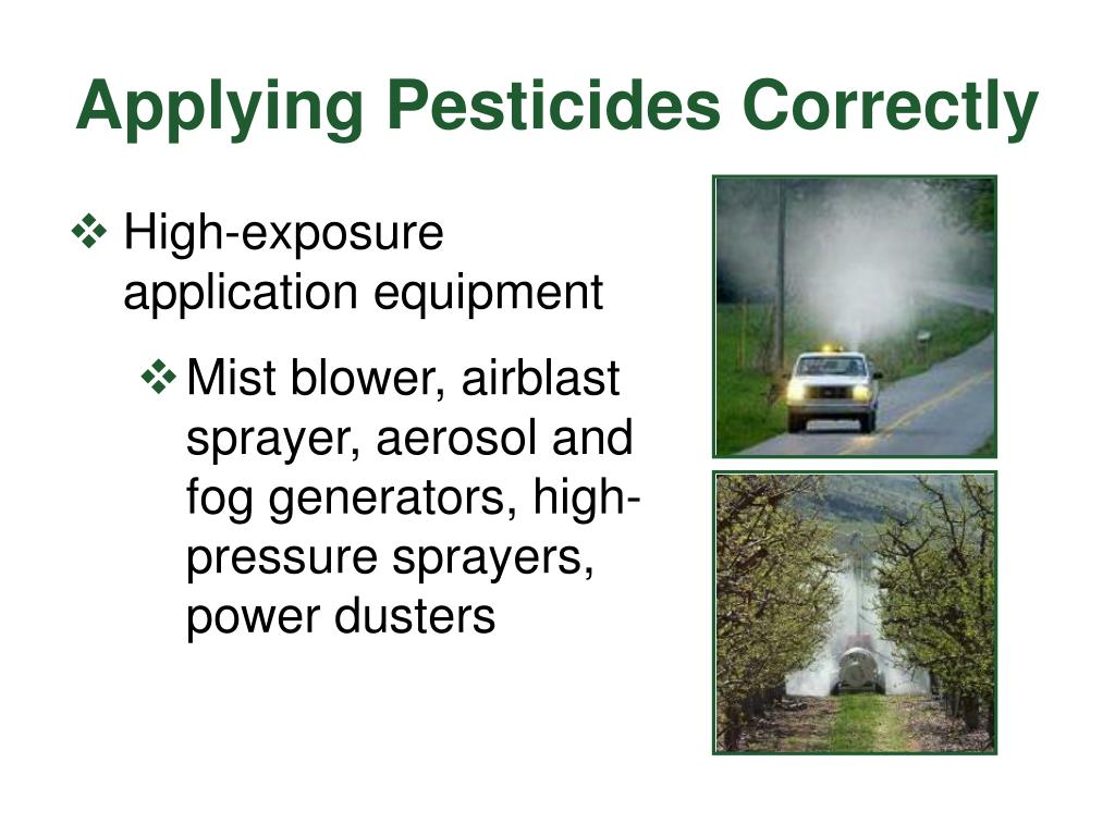 Applying Pesticides Correctly