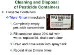 cleaning and disposal of pesticide containers