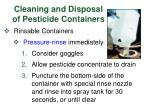 cleaning and disposal of pesticide containers26