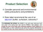 product selection6