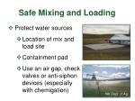 safe mixing and loading21