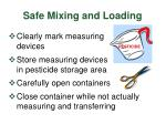 safe mixing and loading23