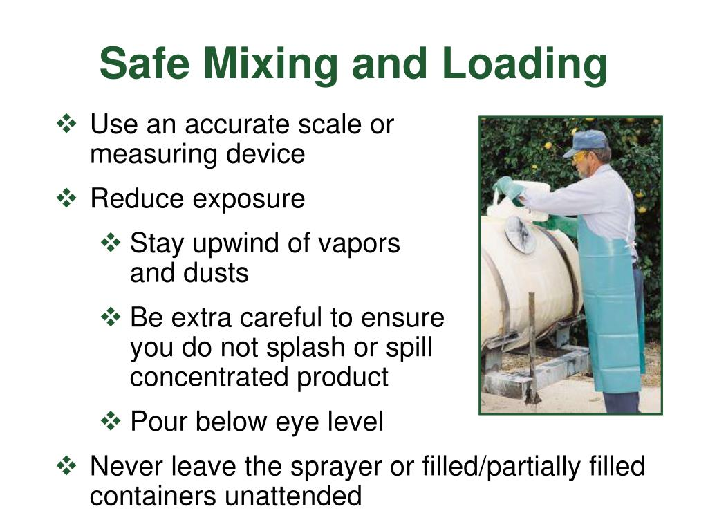 Safe Mixing and Loading