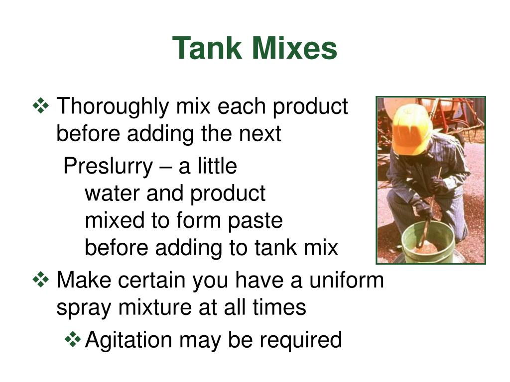 Tank Mixes