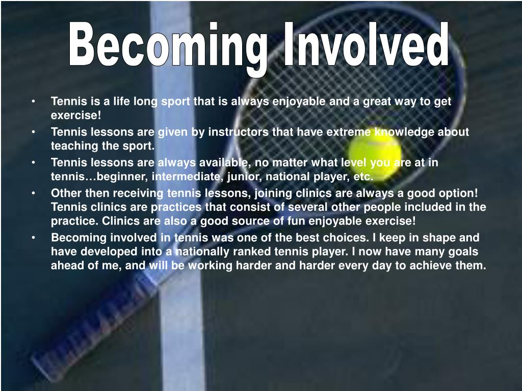 Becoming Involved