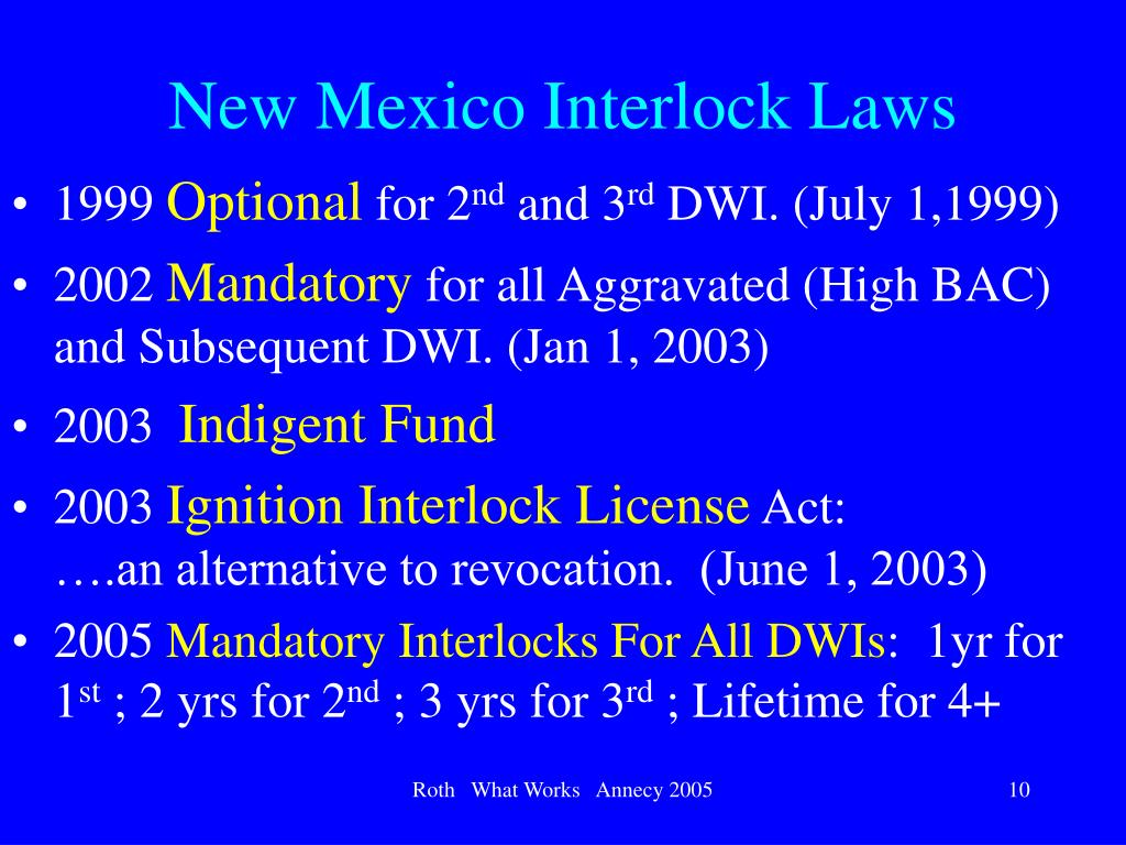 New Mexico Interlock Laws