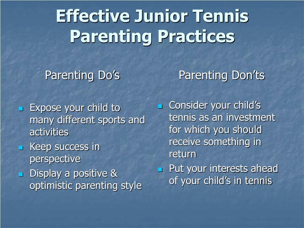 Parenting Do's