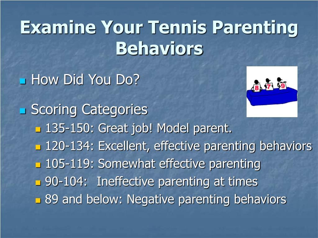 Examine Your Tennis Parenting Behaviors