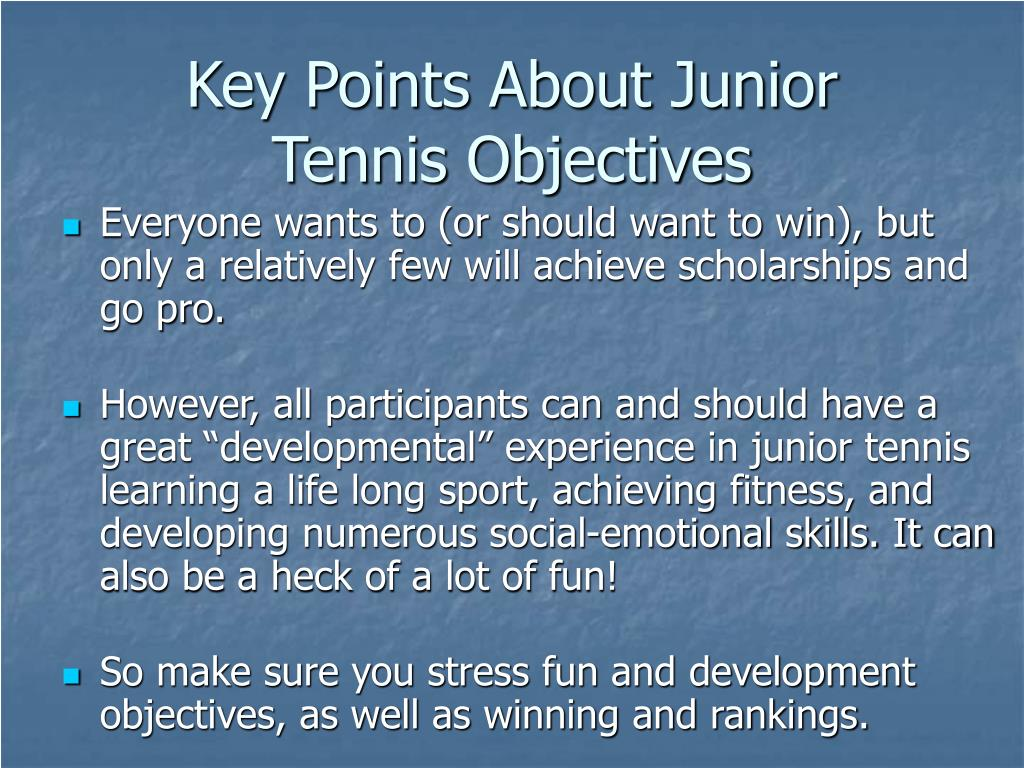 Key Points About Junior