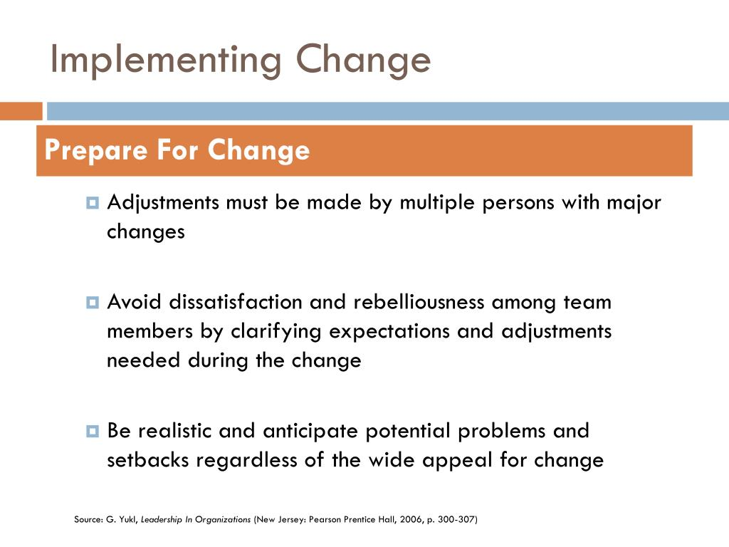 How to Implement Change in Practice