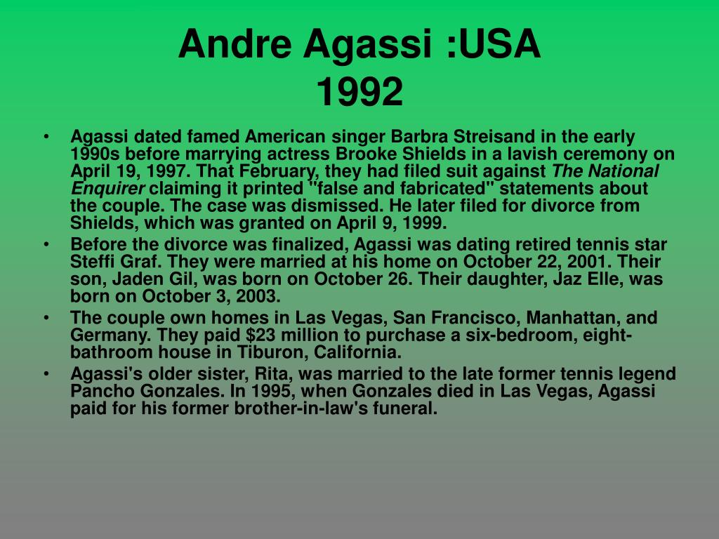 Andre Agassi :USA