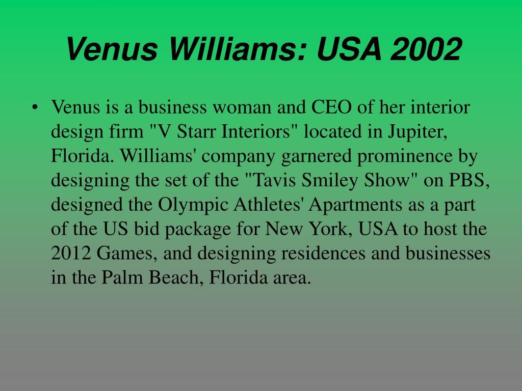 Venus Williams: USA 2002