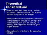 theoretical considerations24