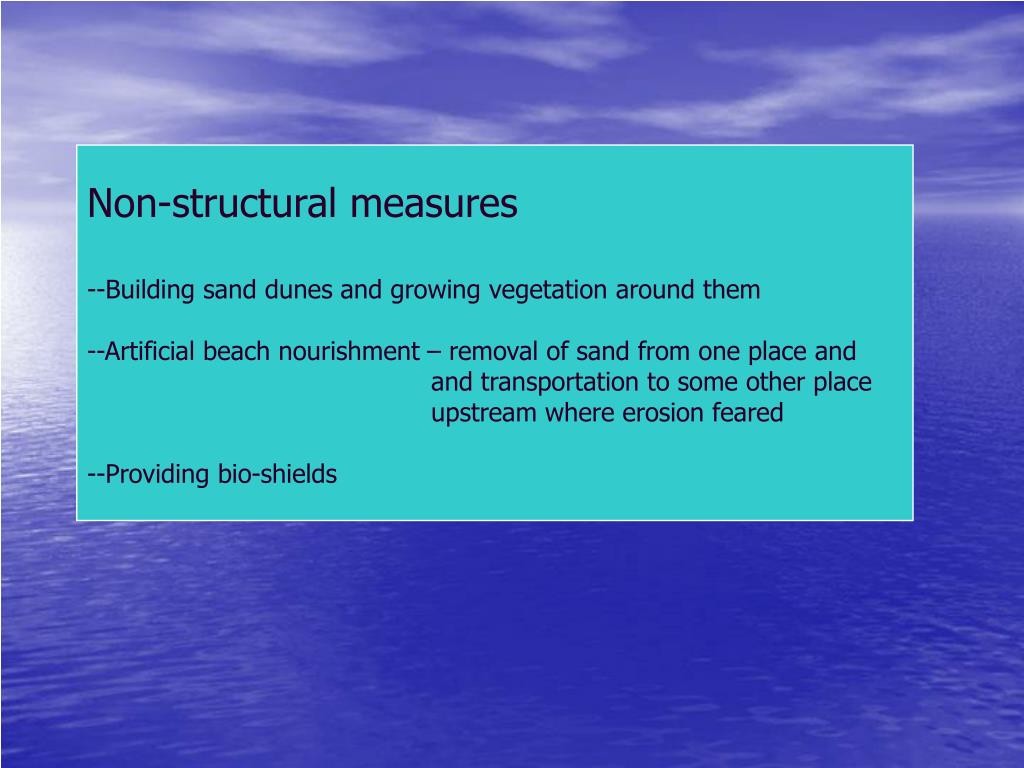 Non-structural measures
