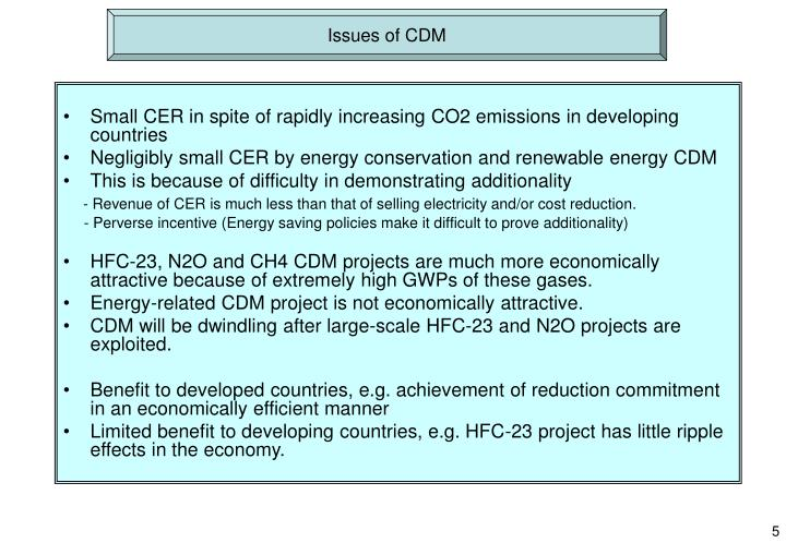 Issues of CDM