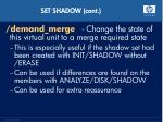 set shadow cont