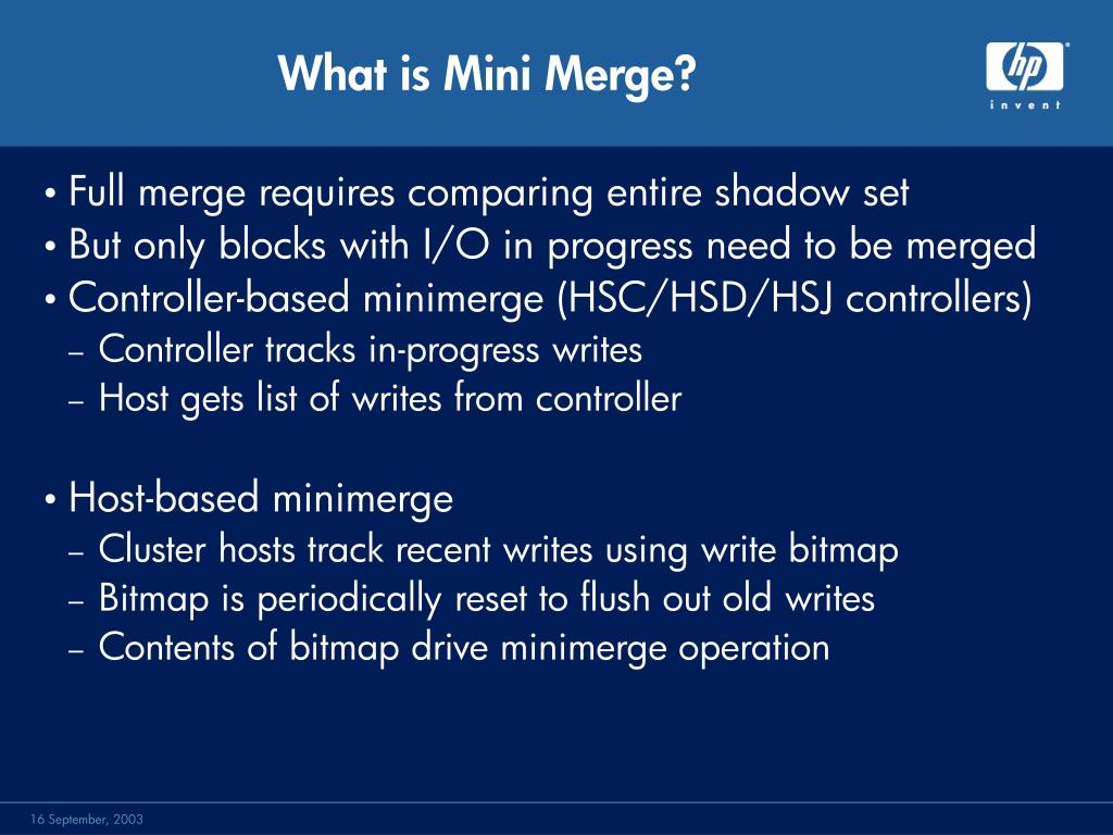 What is Mini Merge?