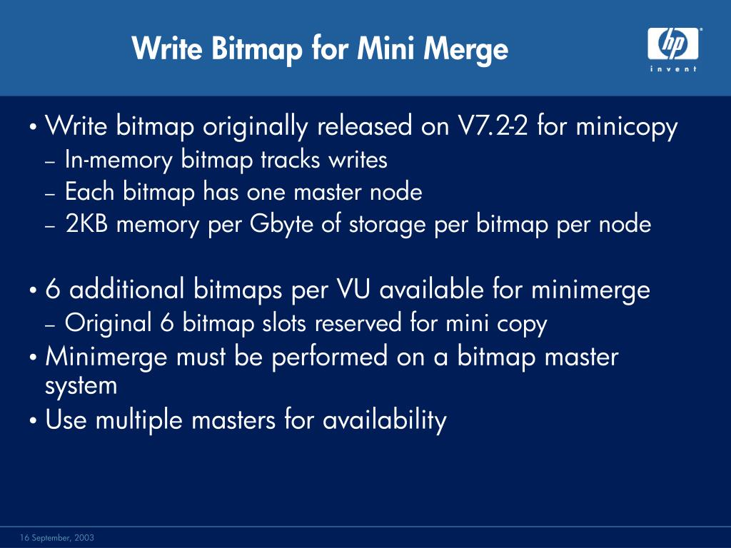 Write Bitmap for Mini Merge