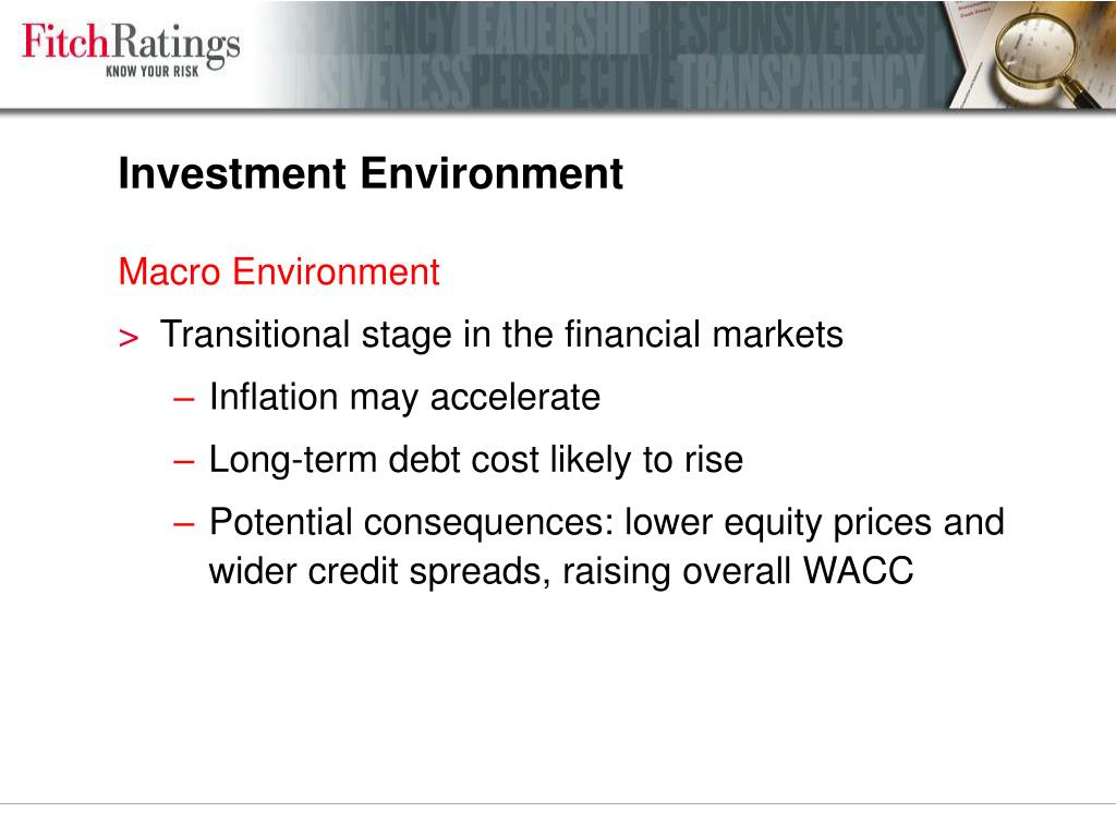 Investment Environment