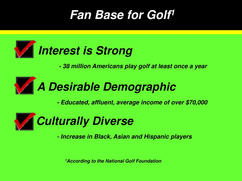 Fan Base for Golf
