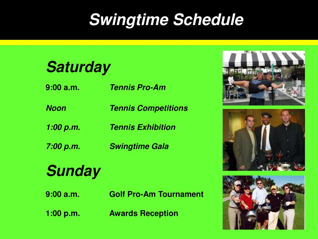 Swingtime Schedule