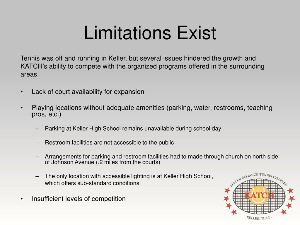 Limitations Exist