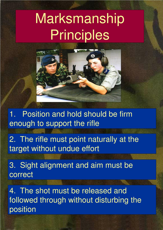 Marksmanship Principles