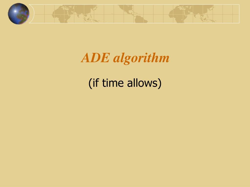 ADE algorithm