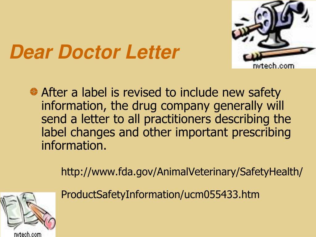 Dear Doctor Letter