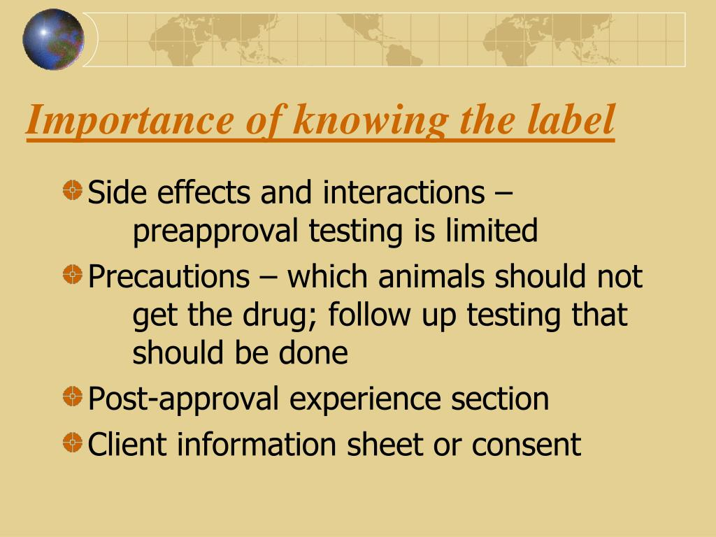 Importance of knowing the label