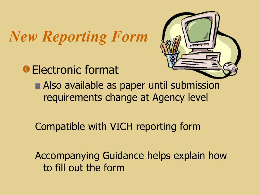 New Reporting Form