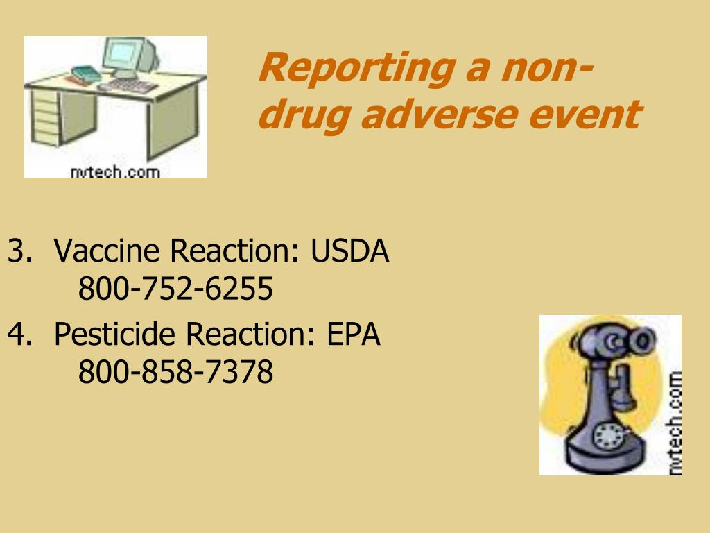 Reporting a non-drug adverse event