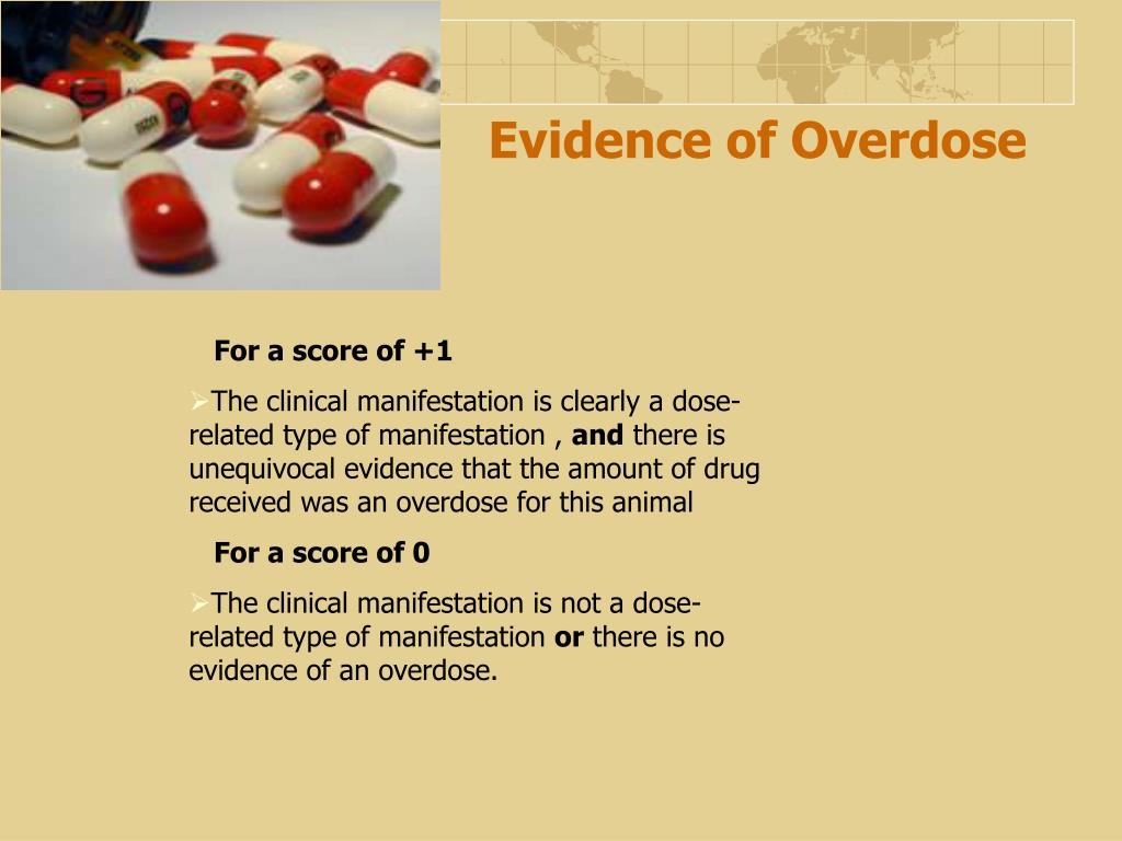 Evidence of Overdose