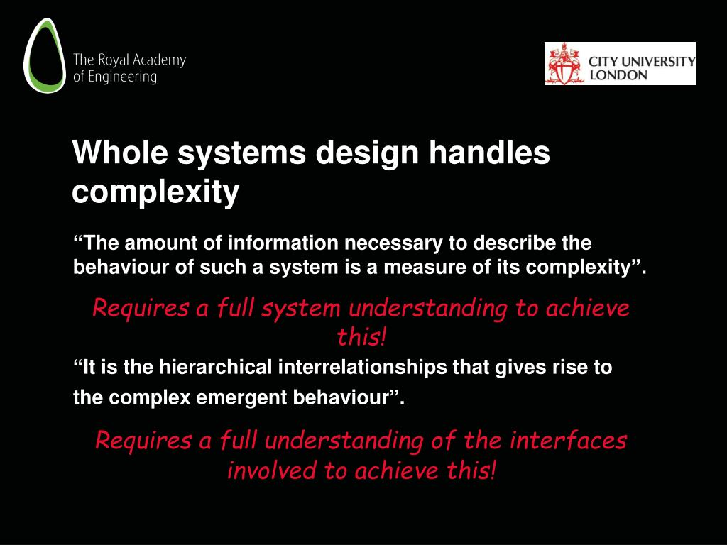 Whole systems design handles complexity
