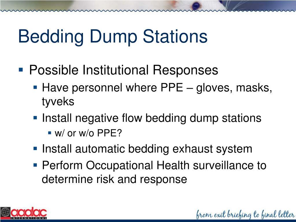 Bedding Dump Stations