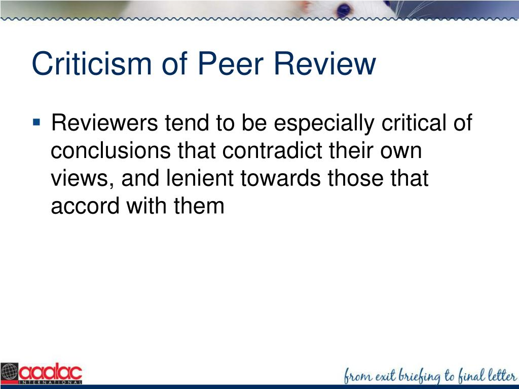 Criticism of Peer Review