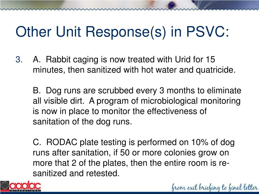 Other Unit Response(s) in PSVC: