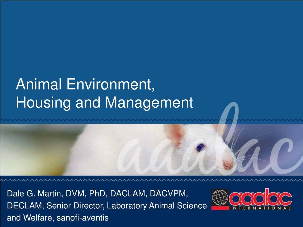 Animal Environment,