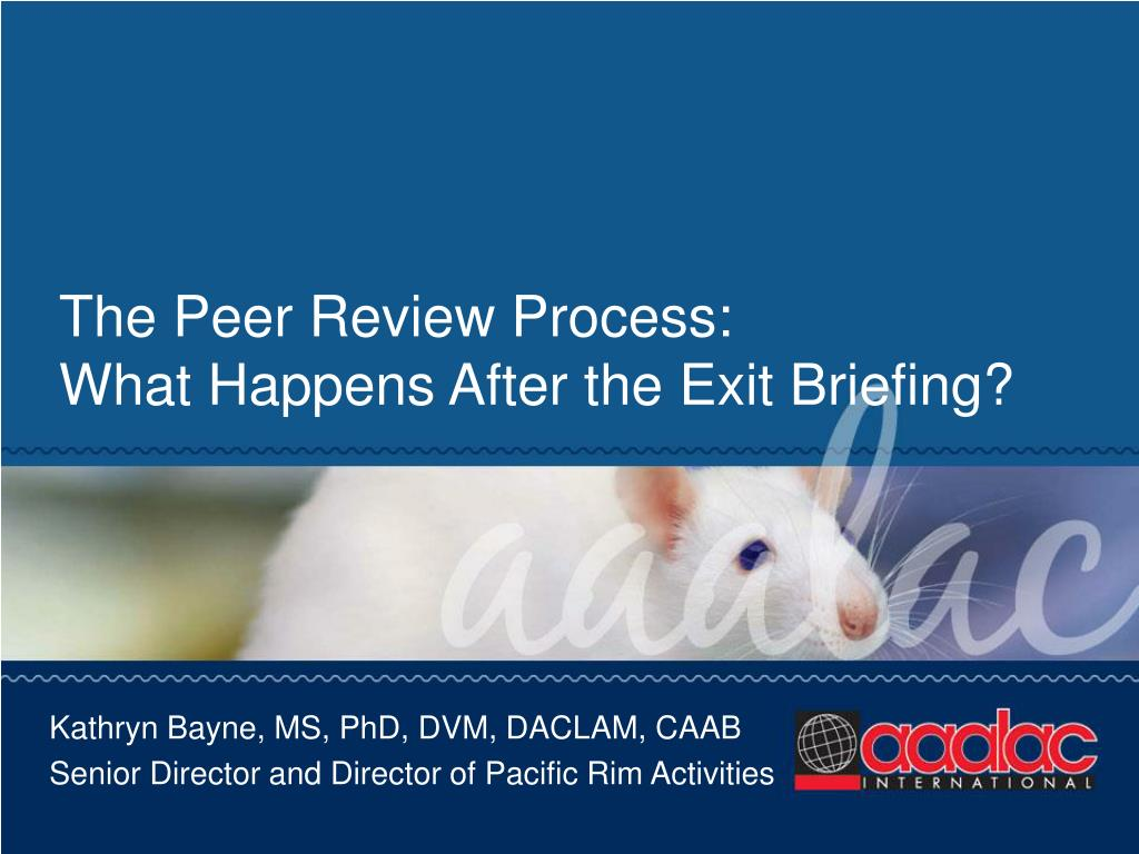 The Peer Review Process: