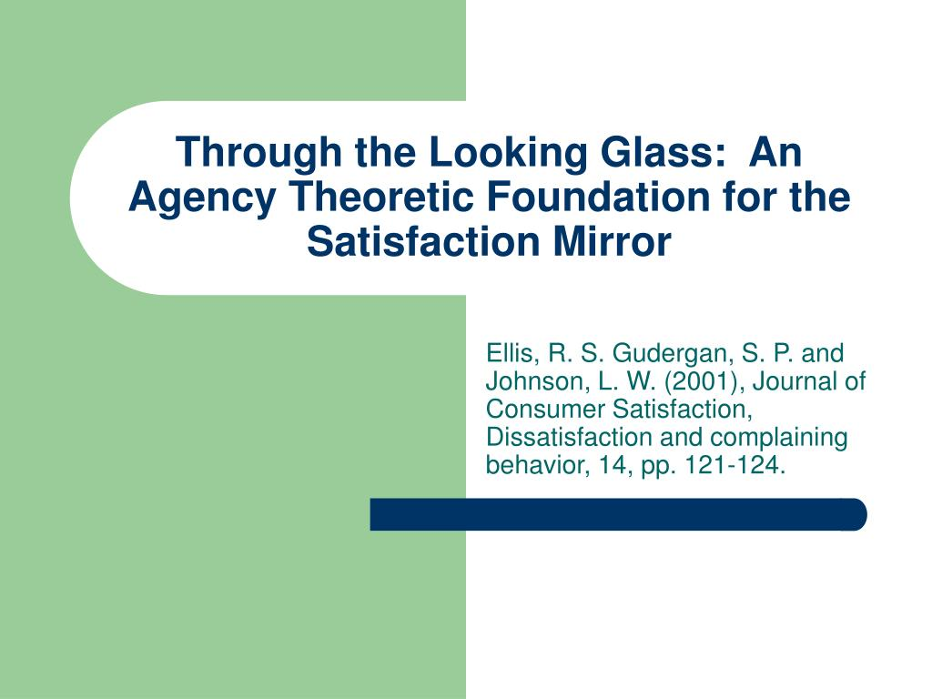 Through the Looking Glass:  An Agency Theoretic Foundation for the Satisfaction Mirror